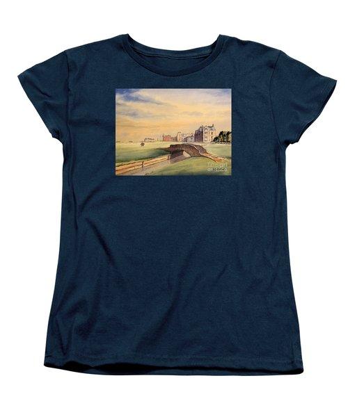 Saint Andrews Golf Course Scotland - 18th Hole Women's T-Shirt (Standard Cut) by Bill Holkham