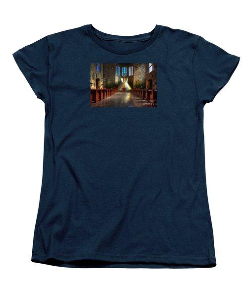 Saint Josephs Apache Mission Women's T-Shirt (Standard Cut) by Bob Christopher