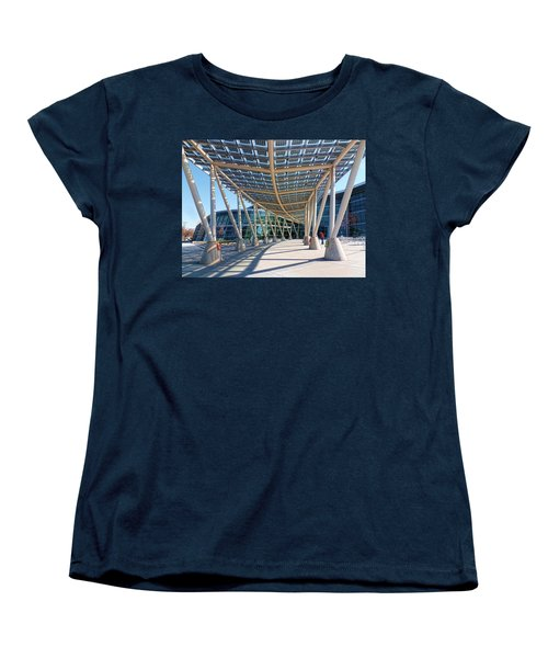 Women's T-Shirt (Standard Cut) featuring the photograph Salt Lake City Police Station - 2 by Ely Arsha