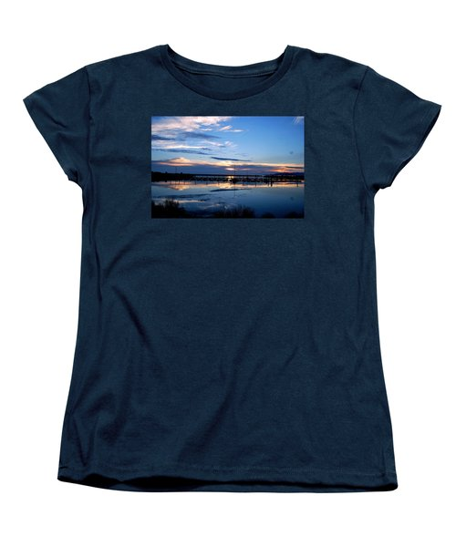 Salt Lake Marina Sunset Women's T-Shirt (Standard Cut) by Matt Harang