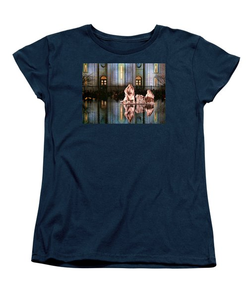 Women's T-Shirt (Standard Cut) featuring the photograph Salt Lake Temple - 2 by Ely Arsha