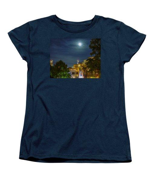 San Antonio Cityscape Women's T-Shirt (Standard Cut) by Allen Sheffield