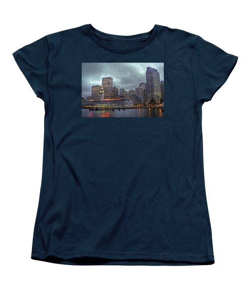 San Francisco Port All Lit Up Women's T-Shirt (Standard Cut)