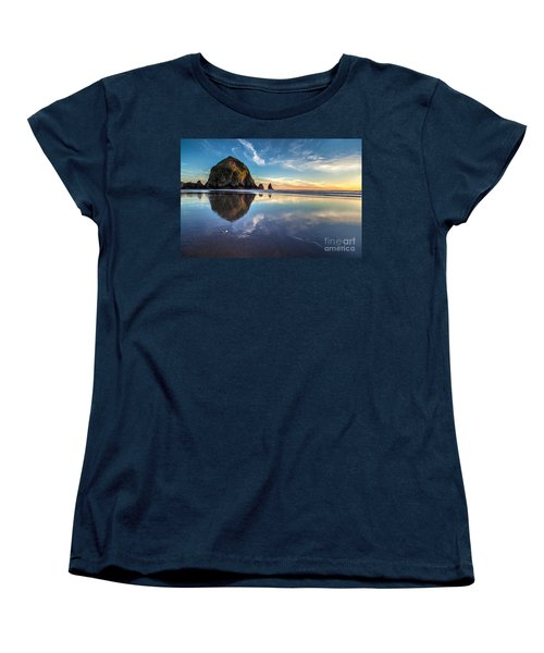 Sand Dollar Sunset Repose Women's T-Shirt (Standard Cut) by Mike Reid