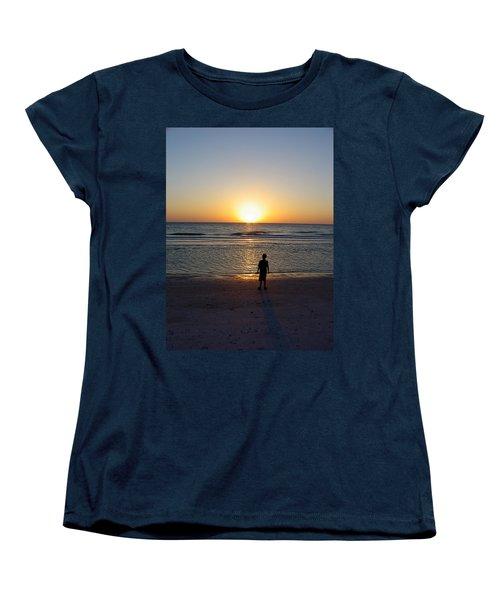 Women's T-Shirt (Standard Cut) featuring the photograph Sand Key Sunset by David Nicholls