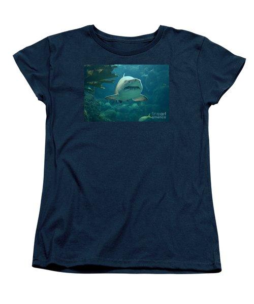 Women's T-Shirt (Standard Cut) featuring the photograph Sand Shark by Robert Meanor