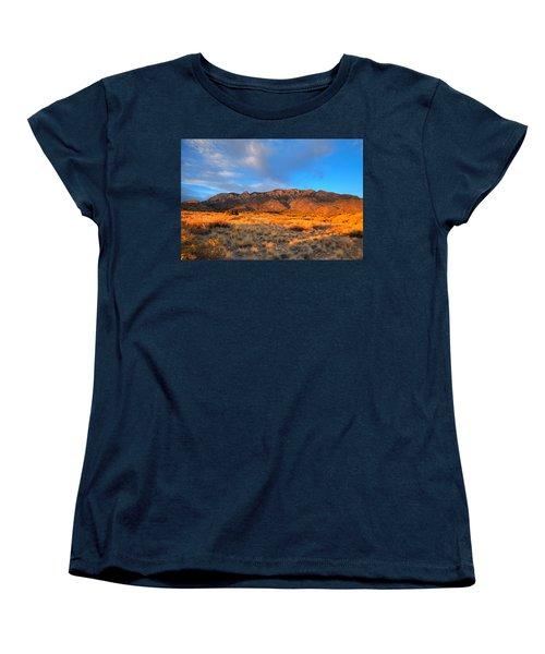 Sandia Crest Sunset Women's T-Shirt (Standard Cut) by Alan Vance Ley