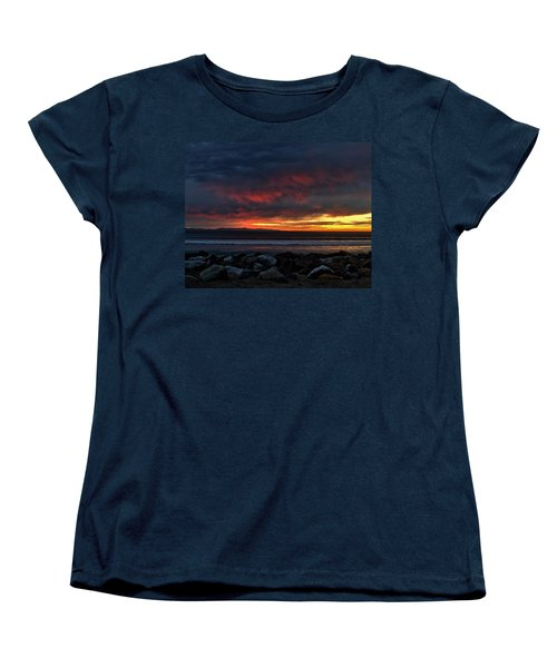 Women's T-Shirt (Standard Cut) featuring the photograph Santa Cruz Rocks by Michael Gordon