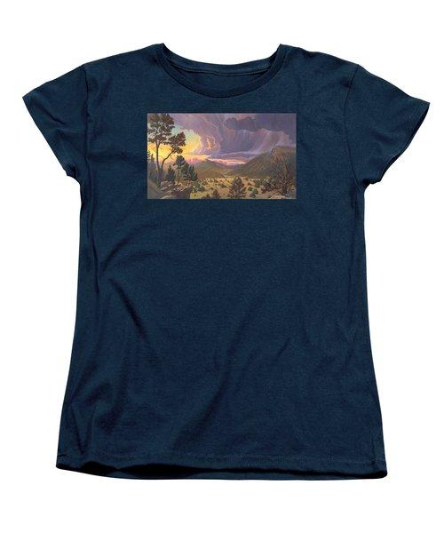 Women's T-Shirt (Standard Cut) featuring the painting Santa Fe Baldy by Art James West