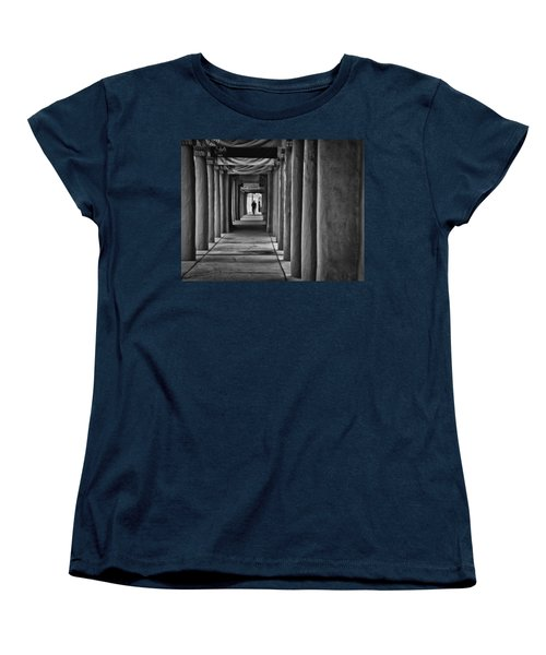 Women's T-Shirt (Standard Cut) featuring the photograph Santa Fe New Mexico Walkway by Ron White