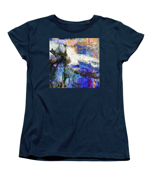 Women's T-Shirt (Standard Cut) featuring the painting Sausalito by Dominic Piperata