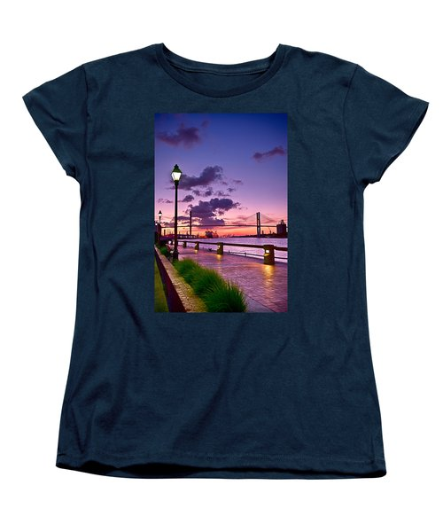 Savannah River Bridge Women's T-Shirt (Standard Cut) by Renee Sullivan