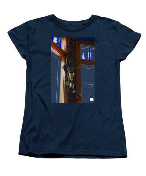 Women's T-Shirt (Standard Cut) featuring the photograph Sax At The Full Moon Cafe by Greg Reed