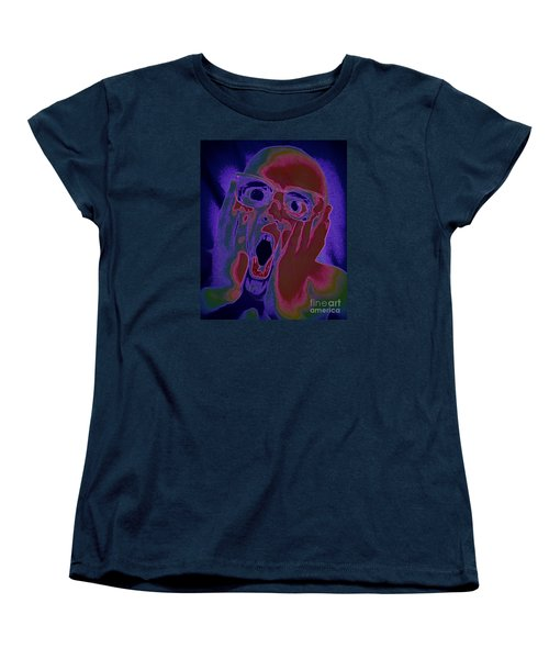 Scared Silly Women's T-Shirt (Standard Cut) by Paul  Wilford