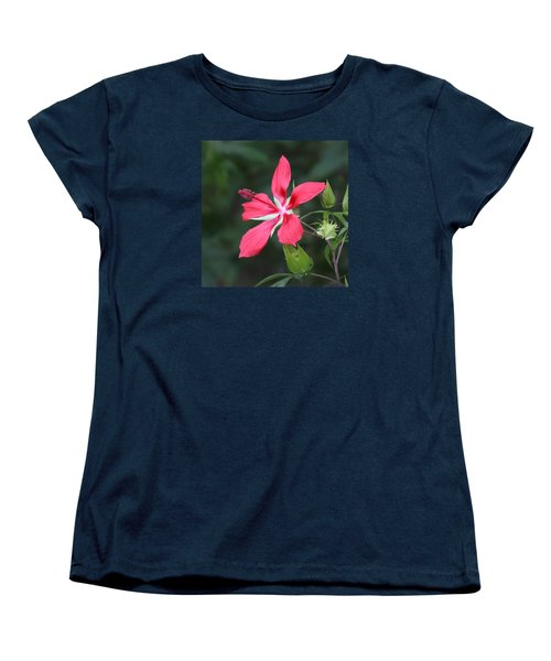 Women's T-Shirt (Standard Cut) featuring the photograph Scarlet Hibiscus #3 by Paul Rebmann