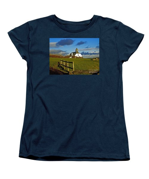 Women's T-Shirt (Standard Cut) featuring the photograph Scene From Giants Causeway by Nina Ficur Feenan