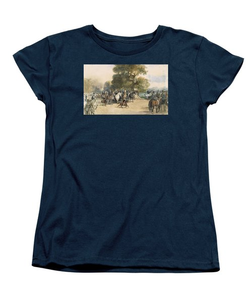 Scene In Hyde Park Women's T-Shirt (Standard Cut) by Eugene-Louis Lami