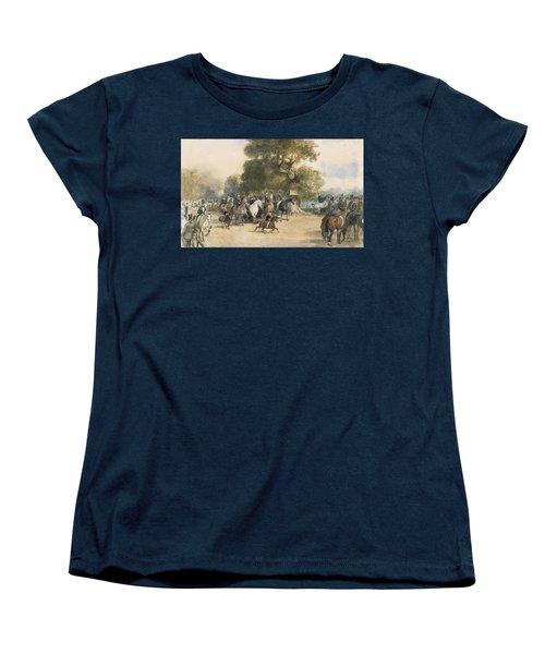 Scene In Hyde Park Women's T-Shirt (Standard Cut) by Eugene-Louis Lami
