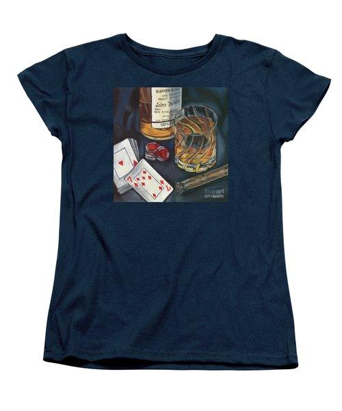 Scotch And Cigars 4 Women's T-Shirt (Standard Cut) by Debbie DeWitt