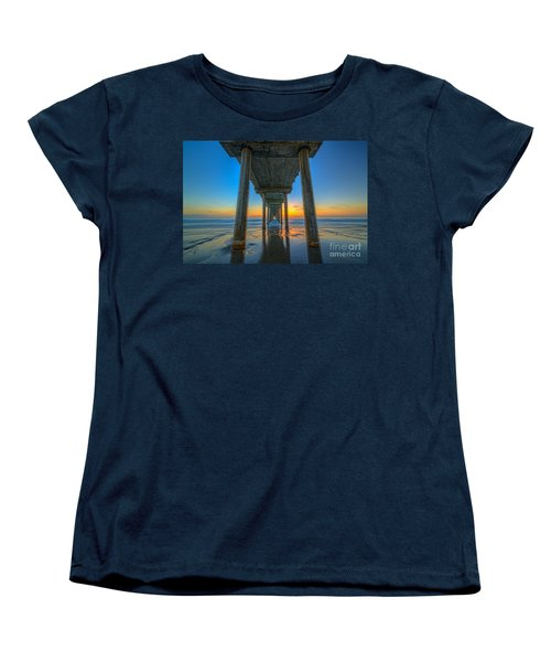 Scripps Pier Sunset Women's T-Shirt (Standard Cut)
