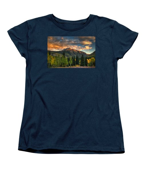 Scripture And Picture Isaiah 55 12 Women's T-Shirt (Standard Cut) by Ken Smith