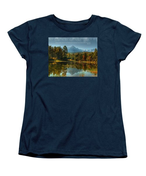 Scripture And Picture Psalm 23 Women's T-Shirt (Standard Cut) by Ken Smith