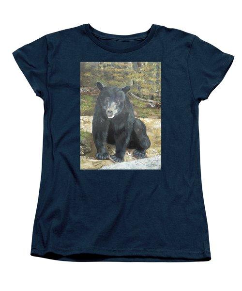 Women's T-Shirt (Standard Cut) featuring the painting Scruffy Again by Jan Dappen