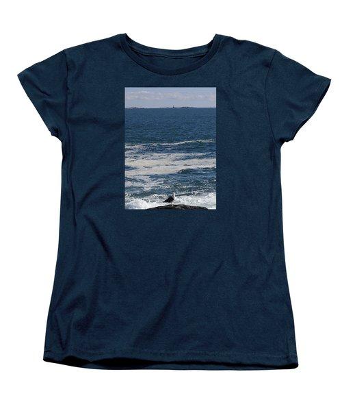 Women's T-Shirt (Standard Cut) featuring the photograph Seabreeze. by Robert Nickologianis