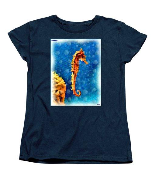 Women's T-Shirt (Standard Cut) featuring the digital art Seahorse by Daniel Janda