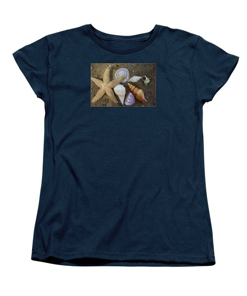 Seashells And Star Fish Women's T-Shirt (Standard Cut)