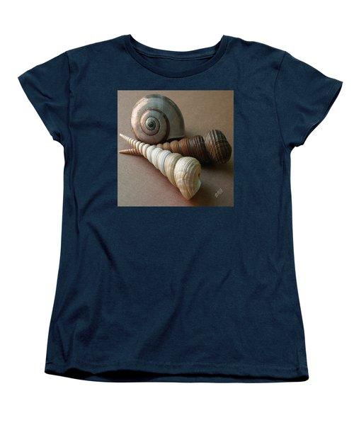 Seashells Spectacular No 29  Women's T-Shirt (Standard Cut) by Ben and Raisa Gertsberg