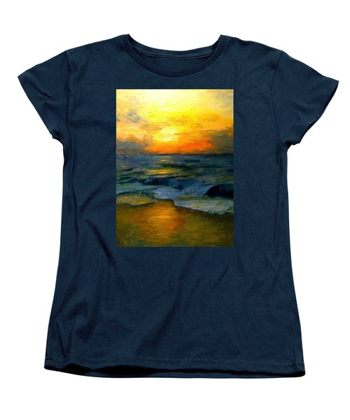 Seaside Sunset Women's T-Shirt (Standard Cut) by Gail Kirtz