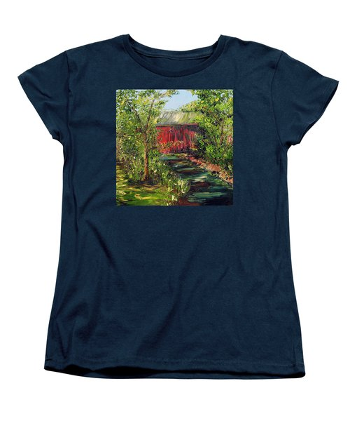 Women's T-Shirt (Standard Cut) featuring the painting Season Of Singing by Meaghan Troup