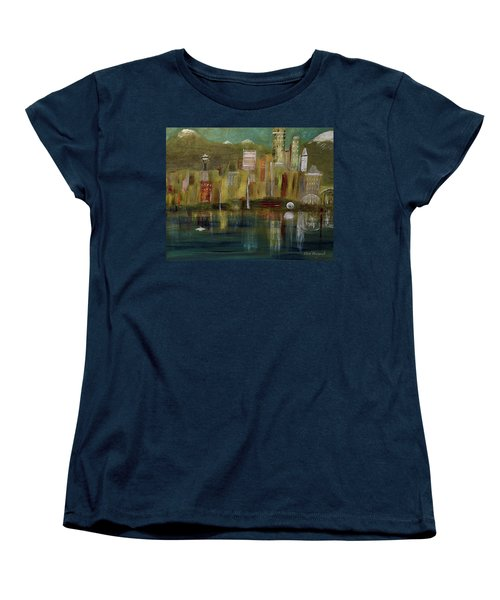 Seattle Cityscape Women's T-Shirt (Standard Cut) by Dick Bourgault