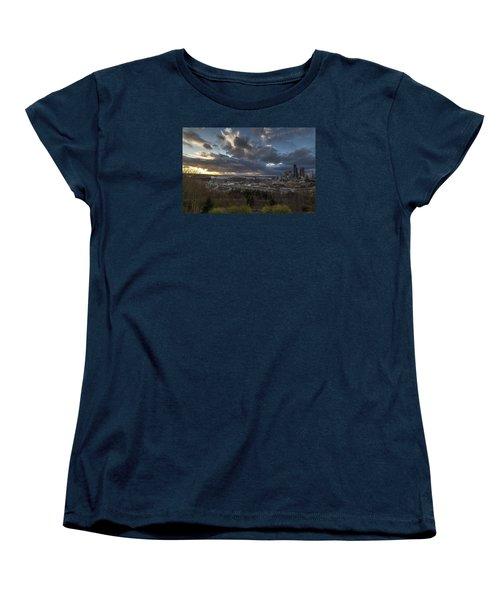 Seattle Dramatic Dusk Women's T-Shirt (Standard Cut) by Mike Reid