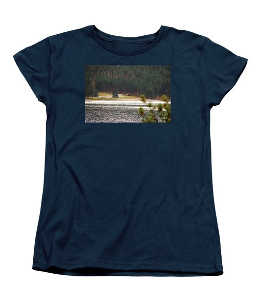 Women's T-Shirt (Standard Cut) featuring the photograph Secluded Cabin by Mary Carol Story