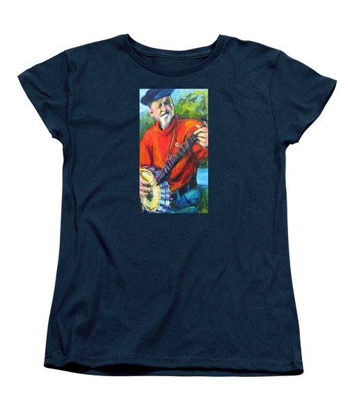 Seeger Women's T-Shirt (Standard Cut) by Les Leffingwell
