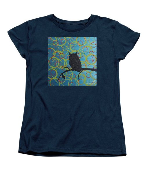 Women's T-Shirt (Standard Cut) featuring the painting Seer by Jacqueline McReynolds