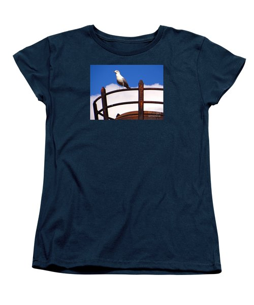 Women's T-Shirt (Standard Cut) featuring the photograph Sentinel Sea Gull by Joy Hardee
