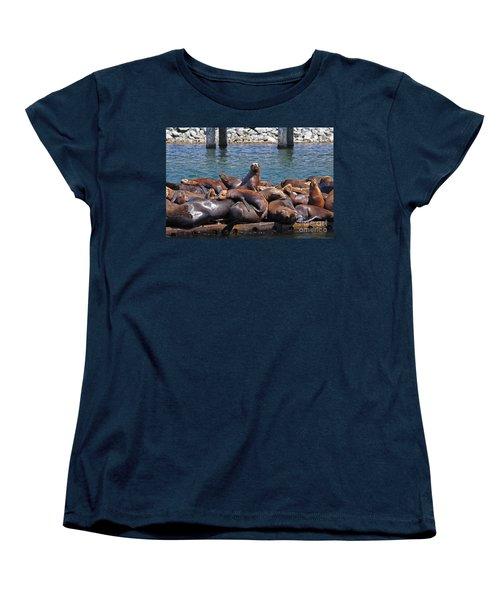 Sentry Sea Lion And Friends Women's T-Shirt (Standard Cut)