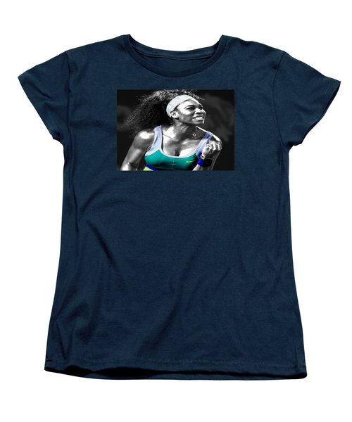 Serena Williams Ace Women's T-Shirt (Standard Cut) by Brian Reaves
