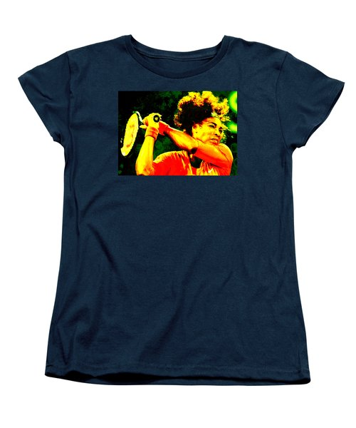 Serena Williams In A Zone Women's T-Shirt (Standard Cut) by Brian Reaves
