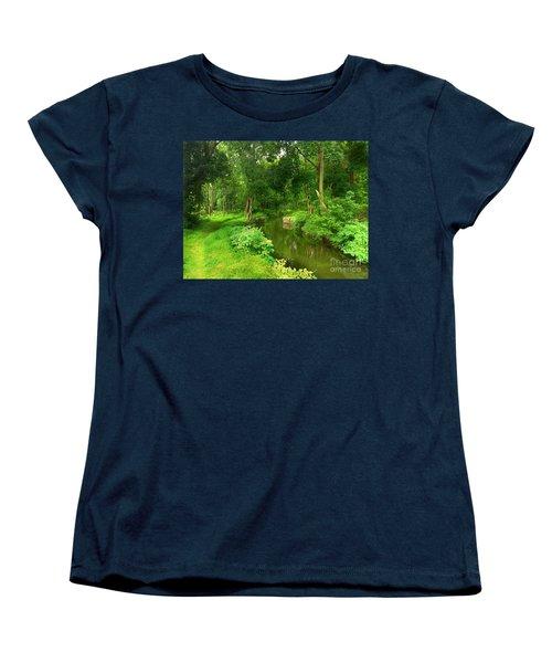 Serene Reflections Women's T-Shirt (Standard Cut) by Becky Lupe