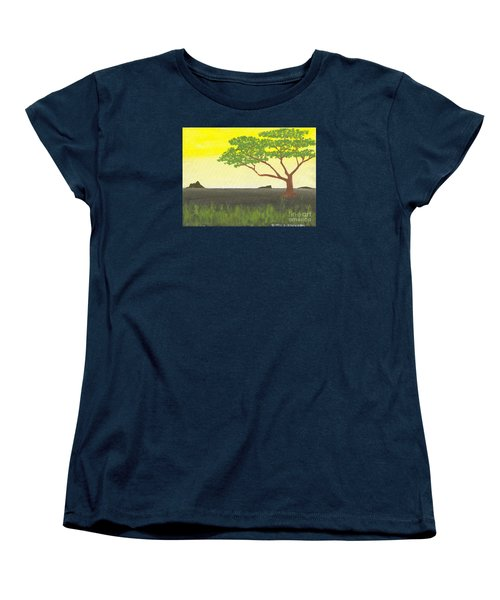 Women's T-Shirt (Standard Cut) featuring the painting Serengeti by David Jackson