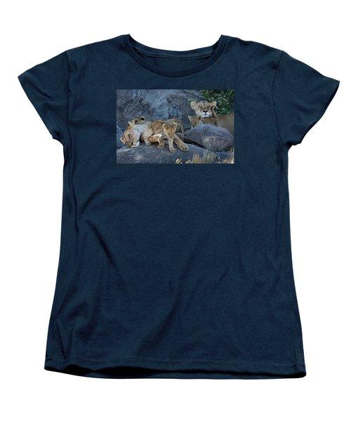 Serengeti Pride Women's T-Shirt (Standard Cut) by David Beebe