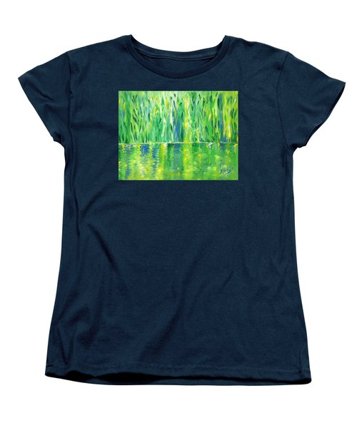 Serenity In Green Women's T-Shirt (Standard Cut) by Donna Blackhall
