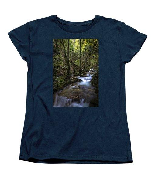 Women's T-Shirt (Standard Cut) featuring the photograph Sesin Stream Near Caaveiro by Pablo Avanzini