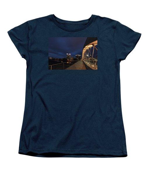 Seventh Avenue Bridge Fort Worth Women's T-Shirt (Standard Cut) by Jonathan Davison