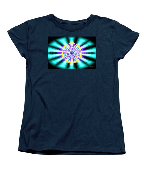 Women's T-Shirt (Standard Cut) featuring the drawing Seventh Ray Of Consciousness by Derek Gedney