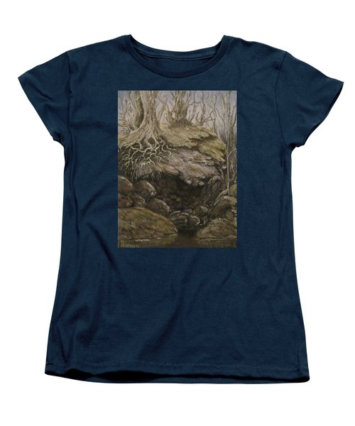 Women's T-Shirt (Standard Cut) featuring the painting Shades Of Froud by Megan Walsh